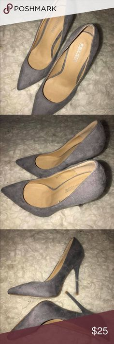 Public Desire - Gray Faux Suede Stilleto Brand new, never worn SZ 6 Just sitting in my closet as it is too big on me Public Desire Shoes Heels
