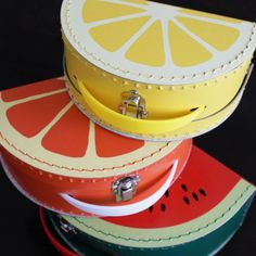 Fruit vintage style suitcases