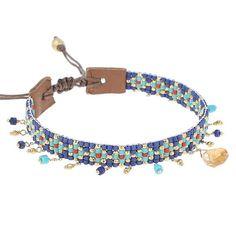 Chan Luu Blue Mix Charm Bracelet
