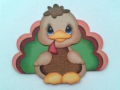Thanksgiving Turkey Bobble Buddy Paper Piecing by My Tear Bears | eBay