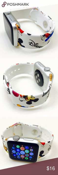 Disney Apple Watch Band Brand new Apple Watch Band (Watch is not included) Disney Accessories Watches Rose Gold Apple Watch, Apple Watch 3, Apple Watch Bands 42mm, Apple Watch Accessories, Tech Accessories, Disney Apple Watch Band, Mickey Watch, Apple Band, Disney Jewelry