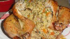 Poulet farci au riz et cuit à la vapeur