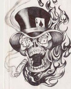 - flash skull by on DeviantArt – flash skull by – flash skull par sur DeviantArt – flash skull par – Card Tattoo Designs, Skull Tattoo Design, Tattoo Design Drawings, Tattoo Sketches, Tattoo Ideas, Evil Skull Tattoo, Skull Tattoos, Evil Tattoos, Foot Tattoos
