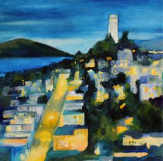 San Francisco art print of original oil by clairespaintings, $17.00