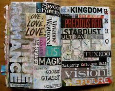 WTJ (Wreck This Journal) - Magazine words [AmyFlorence, via Flickr]
