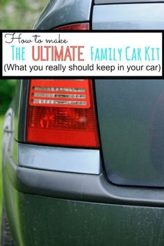 How to Make the Ultimate Family Car Kit ! What you REALLY need in your family car! (spon)
