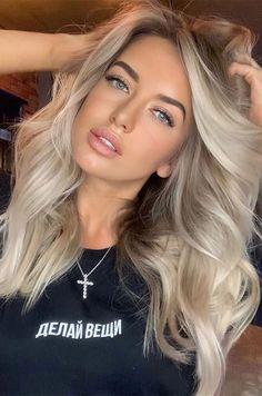 Fall Blonde Hair Color, Summer Blonde Hair, Blonde Hair With Roots, Bright Blonde Hair, Blonde Hair Shades, Dyed Blonde Hair, Blonde Hair Looks, Hair Color For Black Hair, Blonde Hair With Dark Eyebrows
