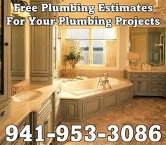 Strode Plumbing 941-953-3086 www.strodeplumbin... Sarasota Plumbers Serving Florida, Water Heater Installation & Repair, Sewer & Drain Cleaning, Sewer Jetting, Kitchen & Bath Remodels, Emergency Plumbing Services, Leaks, Stoppages, Sewer Camera Inspections, Sewer & Water line Installations & Repair, Shower & Tub Installations, Free Estimates For your Kitchen & Bathroom Remodeling Projects & More......... Serving Sarasota & Manatee Counties Residential & Commercial, State Licensed & Insured