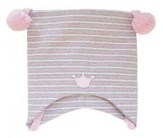 Kivat lue, med rosa, hvite og grå striper   DressMyKid.no - Barn og baby - Alltid gode tilbud
