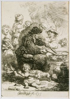 The Pancake Woman by Rembrandt 1635