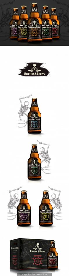 Another #beer #packaging fit for #Halloween! Rhythm & Brews by Tom Ralston - http://www.packagingoftheworld.com/2014/10/rhythm-brews.html