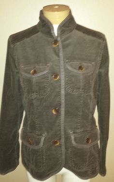 L.L. Bean Womens M Petite Jacket Brown Corduroy Blazer #LLBean #BasicJacket #Casual