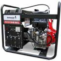 If your power application is going to involve many hours of operation OR if diesel fuel is your only fuel source option then a diesel powered generator set is best for you.     A diesel powered generator requires a little more attention to operate and maintain versus a gasoline powered generator. But if you are going to need power for several hours at a time, we feel this is the only way to go.