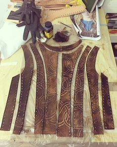 First #dye of #leather top of #season3 #Cosplay #Lagertha #vikings #costume