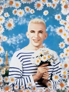 Pierre et Gilles, Jean Paul Gaultier Jean Paul Gaultier 1990, painted photograph, Collection of Maison Jean Paul Gaultier, Paris. View in The Fashion World of Jean Paul Gaultier, buy your tickets at http://www.ngv.vic.gov.au/jeanpaulgaultier