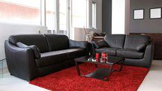 Decorar salón en rojo, negro y gris - Estilo más clásico