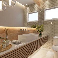 Bathroom Decor Tips Diy Interior, Interior Architecture, Interior Design, Family Bathroom, Modern Bathroom, Wc Decoration, Small Toilet, Bathroom Renovations, Amazing Bathrooms
