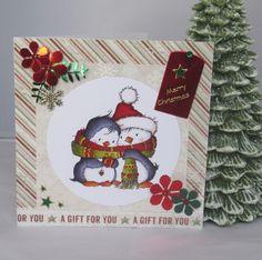 Handgemachte Weihnachtskarte Pinguine mit Schal von KartengalerieDoris Merry Christmas, Advent Calendar, Holiday Decor, Gifts, Home Decor, Xmas, Flowers, Craft, Merry Little Christmas
