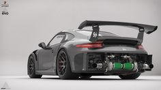 """This is the first project of the Ariandesign EVO series. The Ariandesign EVO series will include modified car....for example, the first entry is a """"normal"""" Porsche GT3RS tuned with a twinturbo kit. The twinturbo kit has been assembled in Lightwave 3D and Moi 3D. The renderings have been done in Keyshot 6 and the postproduction with Photoshop CS5. Full credits, details and QHD images here: http://arianshamil.com/w/porsche-gt3rs-ariandesign-evo-studio-shoots/"""