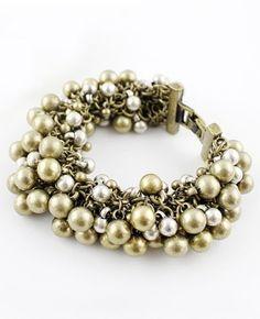 Retro Gold Bead Link Bracelet - Sheinside.com Mobile Site
