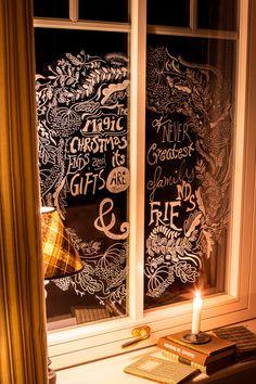 Küchenfenster Weihnachtskranz Verschönerung von cutecottageoverload. Bin ganz verliebt.