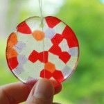 melty bead suncatcher craft from the artful parent