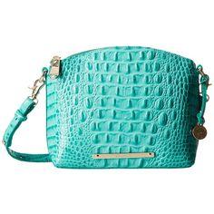 Brahmin Mini Duxbury (Mermaid) Handbags ($195) ❤ liked on Polyvore featuring bags, handbags, shoulder bags, shoulder handbags, dome satchel, man shoulder bag, mini crossbody purse and mini satchel crossbody