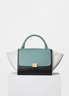 9bc41ecbb42fc Small Trapeze Handbag in Multicolour Bullhide - Céline