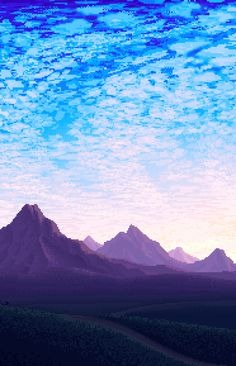 Great landscape ref, great example of ordered dithering on the colour