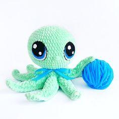 OCTOPUS CROCHET PATTERN. Crochet Sea creature pattern. Knit Plush Octopus. Crochet Sea animal toy tutorial. Amigurumi Kraken
