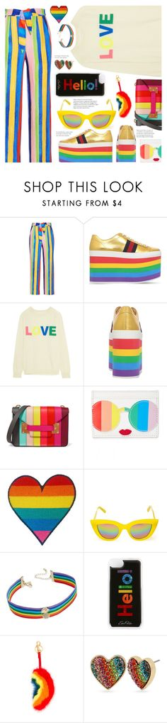 """""""Love Trumps Hate"""" by chocolate-addicted-angel ❤ liked on Polyvore featuring Mara Hoffman, Gucci, Chinti and Parker, Sophie Hulme, Alice + Olivia, Quay, INC International Concepts, Edie Parker, Anya Hindmarch and Betsey Johnson"""