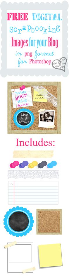 We Lived Happily Ever After: Free Digital Scrap-Booking Images for your Blog in PNG format for Photoshop