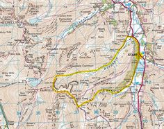Fairfield map route, horseshoe, lake district, dovedale, best walks, best view, deepdale. 8.2 miles in total.