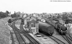 Swanage Station 1958. Southern Trains, Holland, Uk Rail, Heritage Railway, Disused Stations, Steam Railway, Southern Railways, Train Times, British Rail