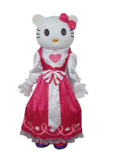 Hello Kitty in Pink Dress Mascot Adult Costume