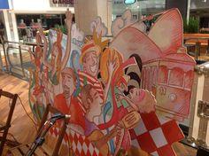Cenário Carnaval Conjunto Nacional - MDF recortado
