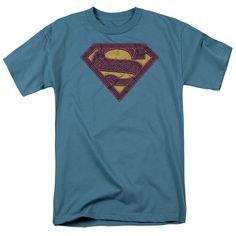 "Superman Fuchsia Flames /""Black/"" Color T-Shirt DC Comics Sizes S-3X NEW"