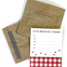 Download and print these free picnic party invites! Perfect for a summer get together!