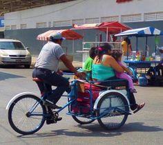 Tricycle bikes of Playa Del Carmen