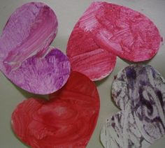 Painting Hearts for Valentine's Day Cards - The Artful Parent