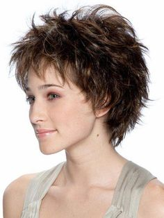Brianna by TressAllure Wigs - Short Synthetic Wig - July 27 2019 at Short Hairstyles For Thick Hair, Short Pixie Haircuts, Curly Bob Hairstyles, Trending Hairstyles, Short Hairstyles For Women, Short Hair Cuts, Easy Hairstyles, Curly Hair Styles, Pixie Cuts