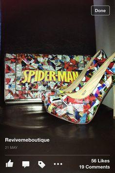 Alternative wedding shoes, superhero