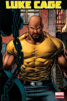 Marvel and Netflix have released the brand new trailer for Luke Cage, and if you thought the San Diego Comic-Con teaser was awesome, you need to get a look at Power Man (Mike Colter) in action here. Luke Cage Comics, Luke Cage Marvel, Marvel Comic Character, Comic Book Characters, Comic Books, Comic Art, Character Art, Marvel Comic Universe, Marvel Dc Comics