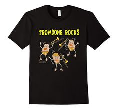 Trombone Light Rocks Funny Musical Instrument T Shirt