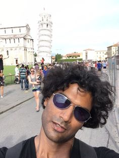 """""""Leaning tower of Sendhil (and Pisa I suppose)"""""""
