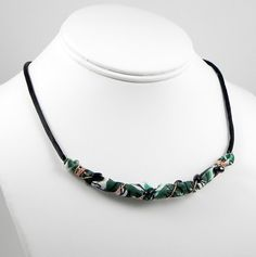 Vintage Fabric Necklace by MountainLightJewelry on Etsy, $40.00