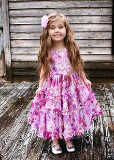 Isabel Garreton Frap Lavender Print Dress