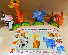 libro gioco - COSTRUISCI ANIMALI - Edizioni del Baldo - by irene mazza