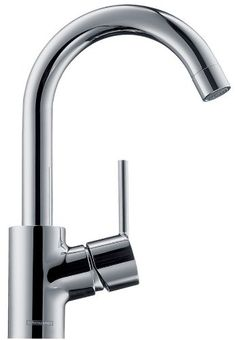 Hansgrohe 32070821 Talis S High Swing Spout Single-Hole Lavatory Faucet, Brushed Nickel - Touch On Bathroom Sink Faucets - Amazon.com