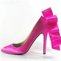 Shoespie Ribbon Bowtie Pointed-toe Stiletto Heels
